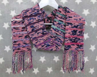 Merino Striped Art Scarf - Pinks and Purples
