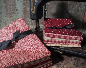 "Fabric: Bundles - "" Red Summer Farmhouse """