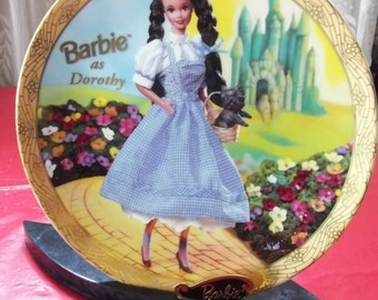 Enesco  Barbie as Dorothy  Limited Edition Collector Plate u0026 Marble Display Stand Wizard Of Oz  sc 1 st  Etsy & Wizard of oz plate | Etsy