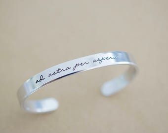 Ad Astra Per Aspera Bracelet - Motivational Jewelry - Latin Jewelry - 1/4