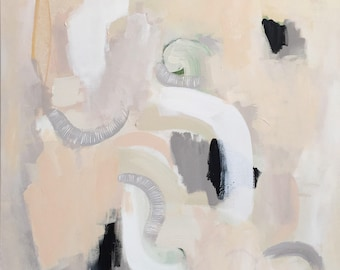 Large Abstract Painting, Neutral Abstract, Abstract Art, Large Wall Art, Gold Painting, Orginal Abstract Art, Canvas Art, Magnify