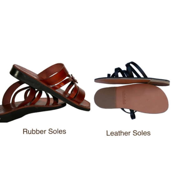 All Sole Leather Sandals Listing VincentHaynes EURO in Roman Leather 42 Brown for Reserved in 8Tqvq