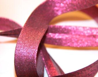 through bright fuchsia Polyester / metallic