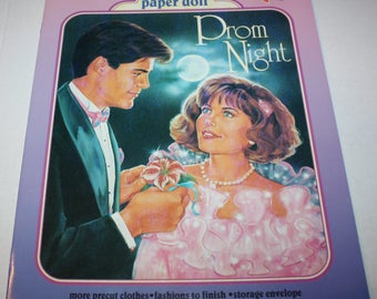 Golden Books 1991 PROM NIGHT Deluxe Paper Doll Book Unused Uncut Vintage
