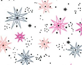 FAT QUARTERS- Cotton Fabric- STAR Fabric- Pink Star Fabric- Gray Star Fabric- Fabric- Woven Fabric- Fabric Yardage- Cut Fabric- Kids Fabric