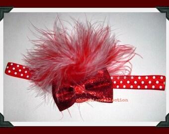 Christmas-Baby Headband-Infant Headband-Wedding Accessories-Flower Girls-Photo Prop-Vintage Couture-Baby Headbow-Customizing,Christenin