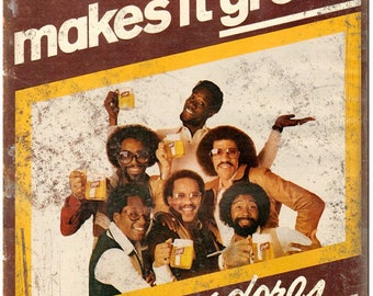 """Schlitz Beer The Commodores RARE ad 10"""" x 7"""" Reproduction Metal Sign"""