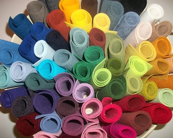 Wool Felt  sheets pack of 10 any colors 9 x 12 OVER 90 COLORS
