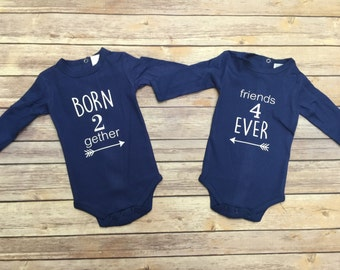 Twin girls gifts twins baby gifts twin girl outfits twin vinyl bodysuits personalized bodysuits baby gifts personalized gifts twins baby outfits bodysuits negle Choice Image
