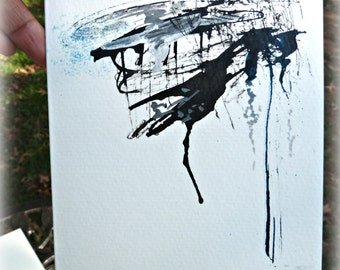 5X7 hand-painted greeting card called initiating faith.  art card.