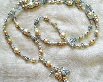 Pale and Smoky Blues Necklace