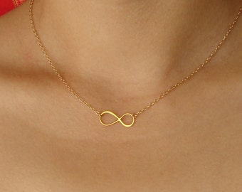 Infinity Necklace, Gold Infinity Charm, Gold Infinity, Bridal Gift Gold Necklace, Eternity Necklace, Wedding Necklace