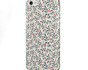 Coque iPhone 6 Pango 'Oloviers', étui iPhone/Samsung Floral motif coeur haute qualité