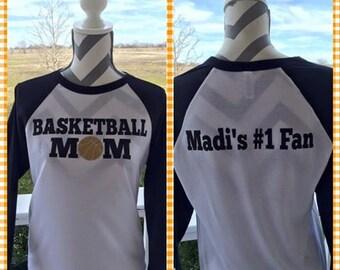 Basketball MOM Raglan Shirt