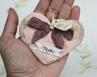Muttertag Nostalgische Wattefigur Herz Ornament Spun Cotton