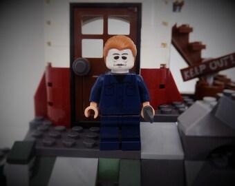 Michael Myers from Halloween custom made Lego minifigure