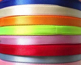 22 6 mm 10 colors satin ribbon.