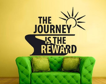 quote wall decals Sign Quote Journey Reward quote wall signs quote wall stencils quote wall stickers  (Z932)