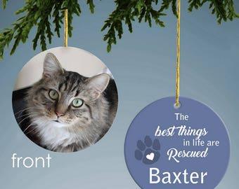 Rescued Pet Custom Photo Ornament