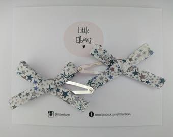 Liberty of London Adelajda B Snap Hair Clip Duo Baby Girl Xmas Birthday Gift