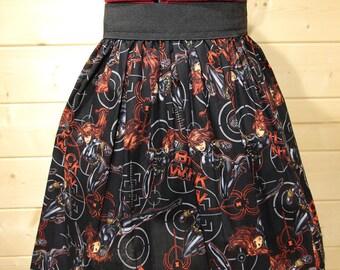 The Red Haired Assassin  Inspired Elasticated Waist Skirt