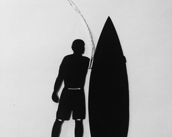 Surfs Up Surfing ornament in male or female