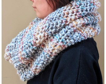 Made to Order - Hand Knitted/Chunky Knit Oversized Infinity Blanket Scarf, Extra Large Infinity Scarf, Cowl, Winter Accessories
