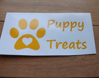 Dog, Doggie, Puppy,  food and treats decals,pet bowl decals