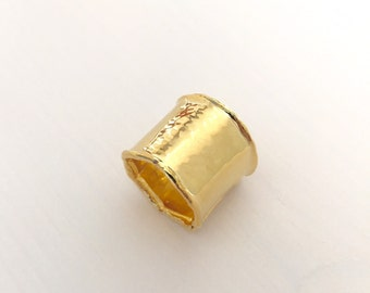 22K Gold Plated brass Cuff Ring