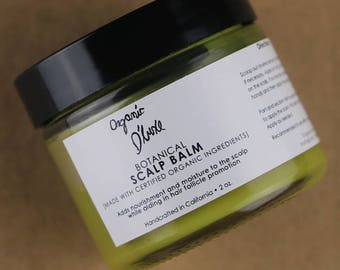 Botanical Scalp Balm / ORGANIC / Herbal Infused / Dry Scalp / Healthy Scalp / Moisturizing / All Natural / 2 oz.