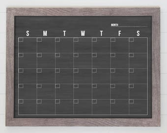 Minimalist Calendar , 18x24 calendar, dry-erase calendar , perpetual calendar #1810