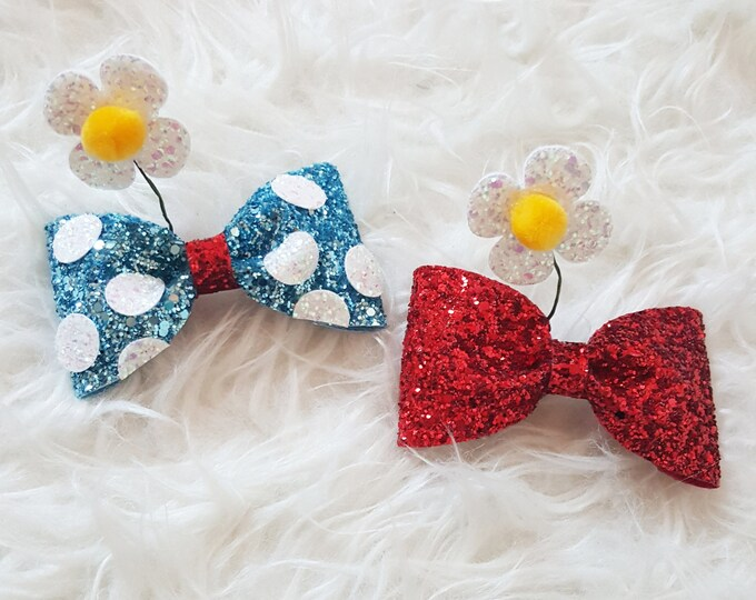Vintage Minnie Mouse Inspired Bow Clip or Headband | Disney Bow | Minnie Bow | Classic Minnie Mouse