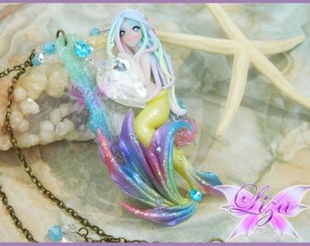 Mermaid Necklace / Mermaid Jewelry / Kawaii jewelry