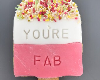 You're Fab - Iced Cookie Biscuit