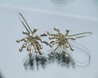 Handmade Tribal Silver Earrings - The Blossom Earrings