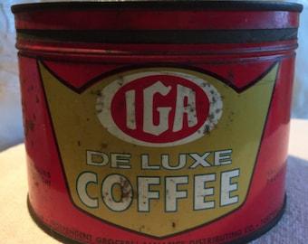 Coffee tin, IGA coffee
