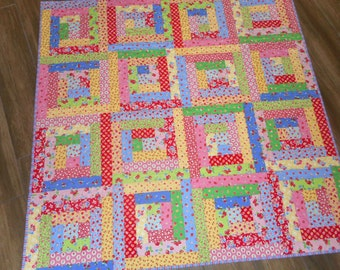 "Lap/Baby Quilt--Pam Kitty Florals 56"" x 56"""