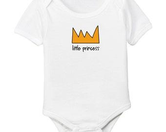 Little Princess Crown Organic Cotton Baby Bodysuit