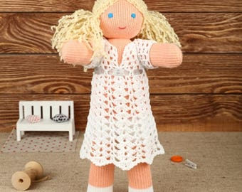 Knitted cotton Doll Angel