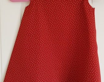 Red Star Girls Pinafore Dress Age 3 years