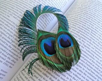 KELKEL Peacock Hair Clip, Fascinator