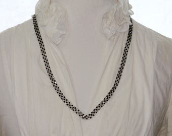 Clear and Black Crystal Necklace