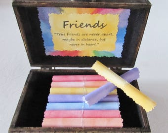 Friend Goodbye Gift, Friend Going Away Gift, Long Distance Friend, Rainbow Gift, Best Friend Gift, Friend Quotes in Wood Box, Best Friend