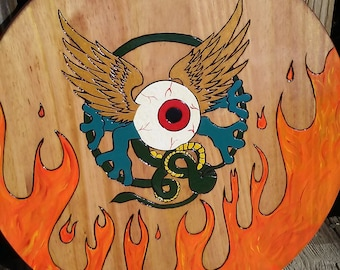 Large Plaque/ Flying Eyeball/ Monster Inc./ Hot Rod Flying Eyeball/ Grateful Dead Flying Eyeball/ Hot Rods/ Hot Rod Art/