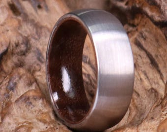Tungseten & Walnut Mens Wedding Band Wedding Ring Mens Band Wood Mens Wedding Band Custom Mens Rings By Pristine