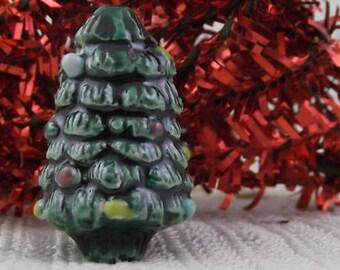 4 Ceramic Christmas Tree Beads