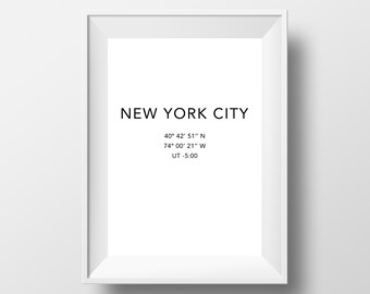 New York Print, New York Wall Art, New York Prints, New York Affiche, Travel Poster, Wall Art, Printable Wall Print #0012