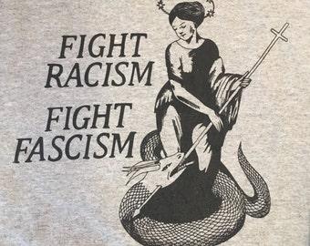 Fight racism / fight fascism crew neck sweatshirt