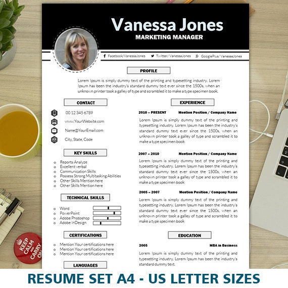 marketing resume template cv template creative resume