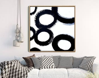 Abstract Print, Black And White Print, Circles Print, Abstract Art, Abstract Art Print, Black Abstract Art, Instant Download